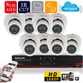 SUNCHAN 8 Channel AHDH System 8ch CCTV System 1920*1080P Indoor Camera 2.0MP Security Camera Surveillance System Kits