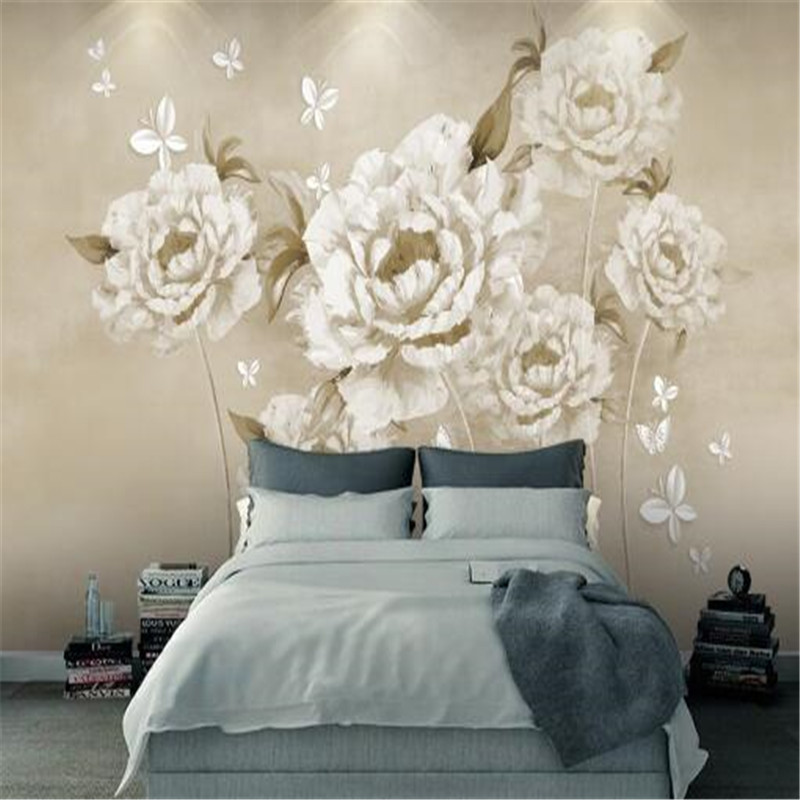 European Oil Painting 3D Wallpapers Retro Non-Woven Wall Paper Rose Photo Wallpapers for Living Room Luxury Home Decor Murals beibehang lovely abc print kid bedding room wallpapers ecofriendly fantasy non woven wall paper children mural wallpaper roll