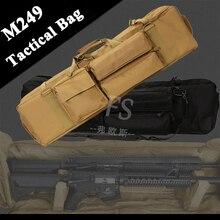 M249 bolsa táctica de caza Airsoft militar tiro funda de pistola rifle de gran capacidad bolso de hombro de Nylon pistola pistolera bolsa