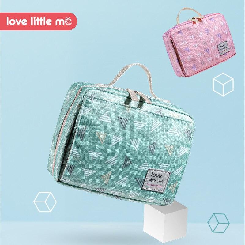Love Little Me Portable Baby Diaper Bag Maternity Bag Waterproof Wet Cloth Diaper bag Reusable Diaper Cover Baby Care For Mom