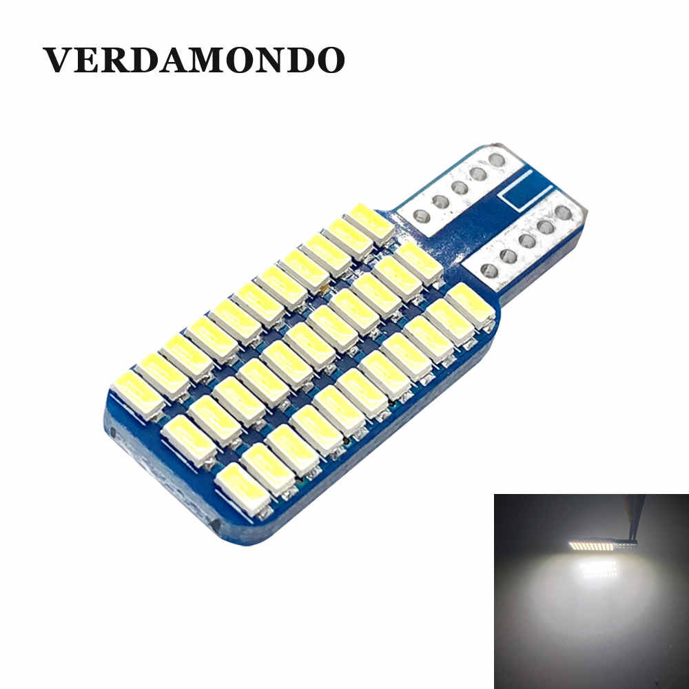 T10 194 168 W5W Led Canbus 33 Led 3014 Smd Led Geen Obc Fout Led Interieur Instrument Gloeilamp Lezen lamp Wit
