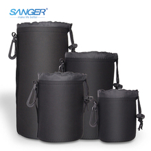 Сэнгер S/M/L/XL Камера сумка чехол для объектива Мягкий Водонепроницаемый сумка из неопрена Мягкий протектор для Canon nikon sony Sigma Tamron аксессуары
