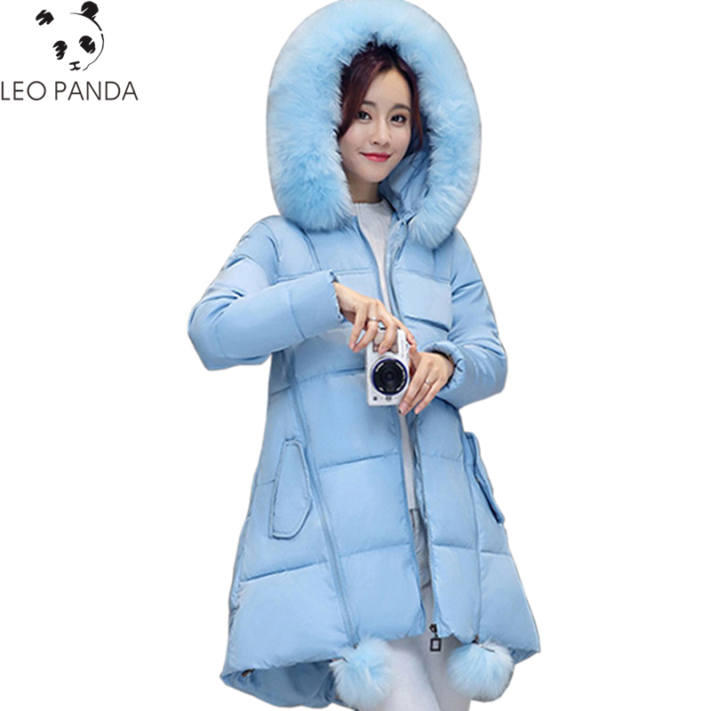 2017 New Winter Women Padded Jacket High Quality Ladies Wadded Coat Warm Cotton Coat Fashion Long Zipper Parkas Plus Size WQ511 new wadded winter jacket women cotton long coat with hood pompom ball fashion padded warm hooded parkas casual ladies overcoat