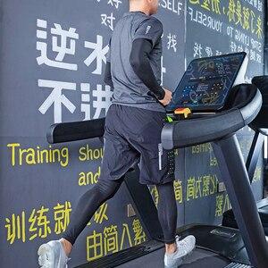 Image 5 - ROCKBROS koşu setleri spor spor takım elbise spor T shirt şort spor eğitimi giyim nefes koşu pantolonları erkek eşofman altı