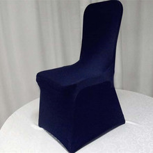 25pcs Navy Blue Elastic Stretch Chair Covers Lycra Spandex Chair Covers For  Hotel Banquet Wedding Decoration