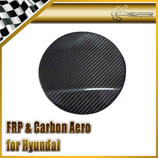 Car-styling For Hyundai Veloster Carbon Fiber Fuel Cap Cover Fibre Oil Sticker Accessories