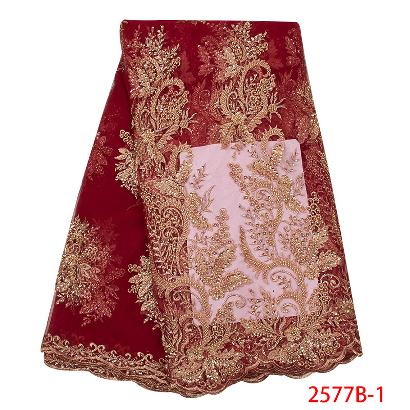 Latest 2019 Handmade Lace Fabric High Quality Embroidered African Lace Fabric for Wedding Dress French Tulle