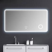 Большой умный дом кровать Ванная Комната Комод современный широкоформатный Зеркало сенсорный экран Bluetooth безграничное затемнение анти туман увеличительное стекло
