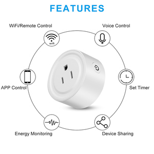 Image 4 - KEBIDU US UK EU Smart Plug,WiFi Remote Control Works With for Home Timing on/off The Smart Power Home Electric Mini Socket