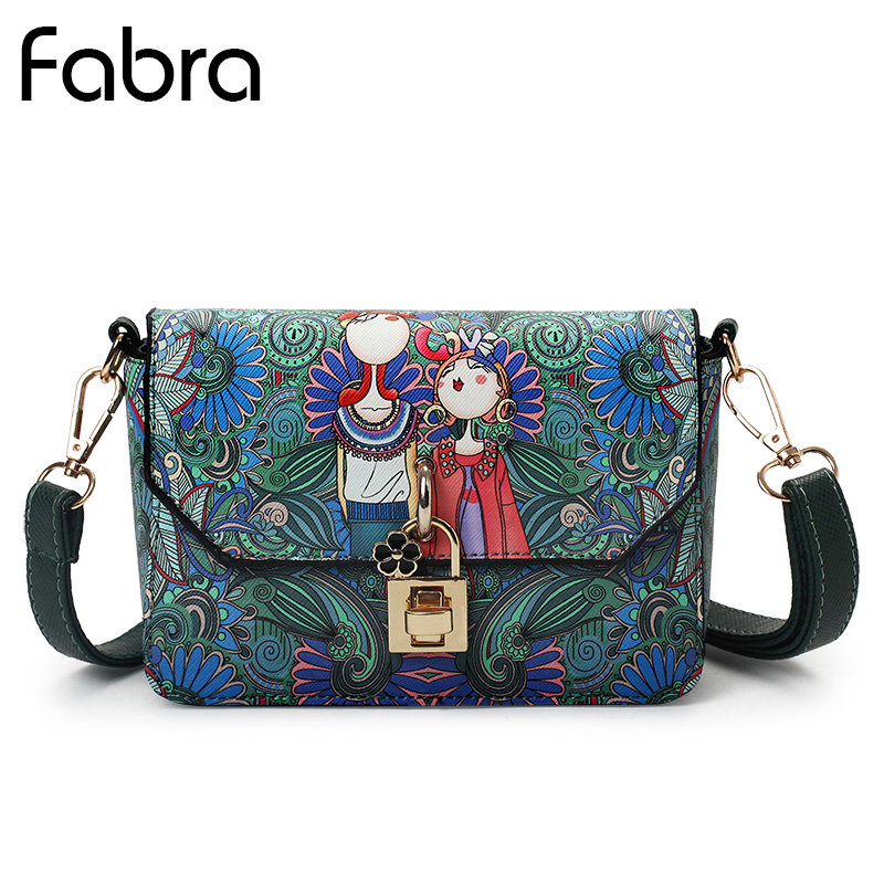 Fabra New Summer Cute Cartoon Women Messenger Shoulder Bag for Girls Mini Crossbody Bags Personality Purse Fashion Small Bag fabra women cute cartoon pu leather