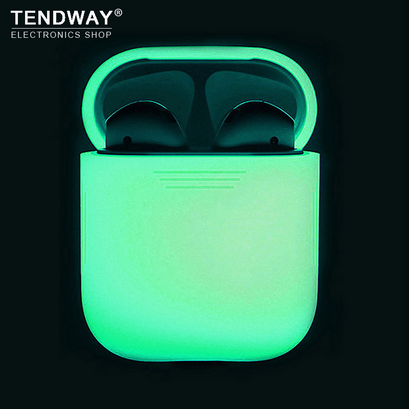 Glowing in dark Silicone Case For Apple AirPods Luminous shockproof Protector Sleeve for AirPods Earphone box accessories цена