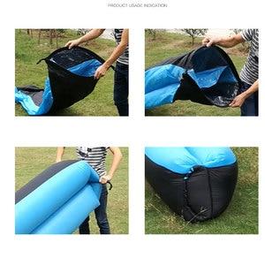 Image 5 - מהיר מתנפח אוויר ספה מיטת ריהוט גן בחוץ קמפינג עמיד למים עצלן שינה שקיות מתקפל Protable אוויר ספה