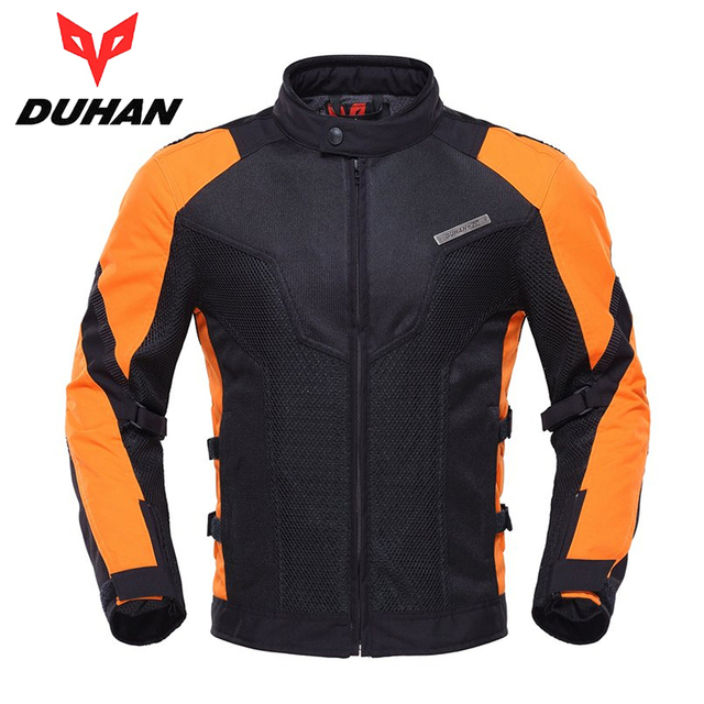 DUHAN Summer Men Motorcycle Touring Racing Jacket Coat Breathable Mesh Cloth Motocross Off-Road Motorbike Street Racing Clothing