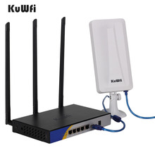 KuWFi 300mbps High Power OpenWRT Preloaded Wireless Router Metal case USB interface for wifi usb adapte repeat longer distance