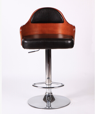 Bar Chairs European High-grade Solid Wood Buffet Chairs Retro High Chair Lift Swivel Chair At The Front Desk