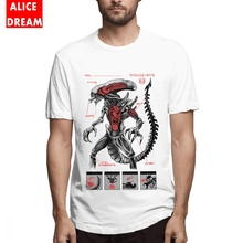 Men Alien Anatomy Predator T Shirt Tee Cheap Homme O-neck Big Size T-shirt 3D Print SHIRT