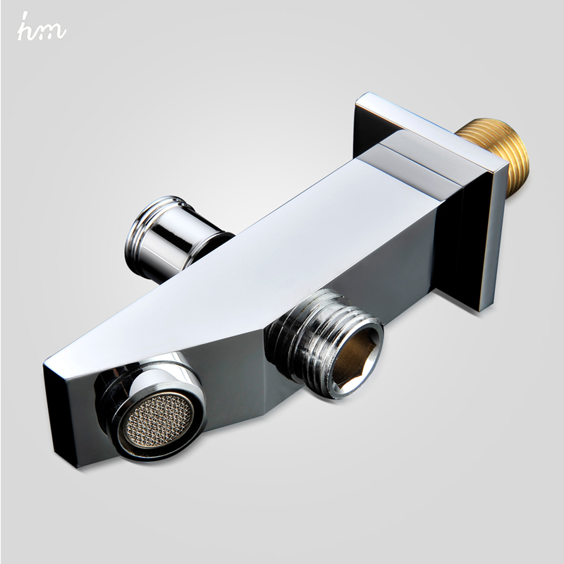 hm Bathtub Spout Chrome Finish Wall Mounted Replace Spout Lift the Conversion Water Way Modern Style Multiple Types Bibcocks