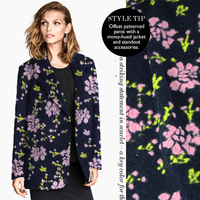 High end cashmere wool jacquard fabric winter flowers multi color wool coat garment, cloth/100cm*150cm