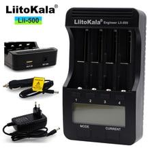 2017 Liitokala Lii-500 LCD 3.7 V 18350 18500 16340 18650 17500 25500 10440 14500 26650 Carregador De Bateria de Lítio 1.2 V AA AAA nik