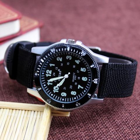 2018 new canvas children boys fashion watches casual quatrz adjustable bracelet compass gift watches cool handsome watches Karachi