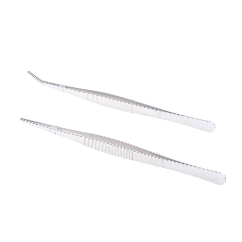 silver Fragrant Aroma Spirited Winomo 2pcs Stainless Steel Straight And Curved Nippers Tweezers Feeding Tongs For Reptile Snakes Lizards Spider