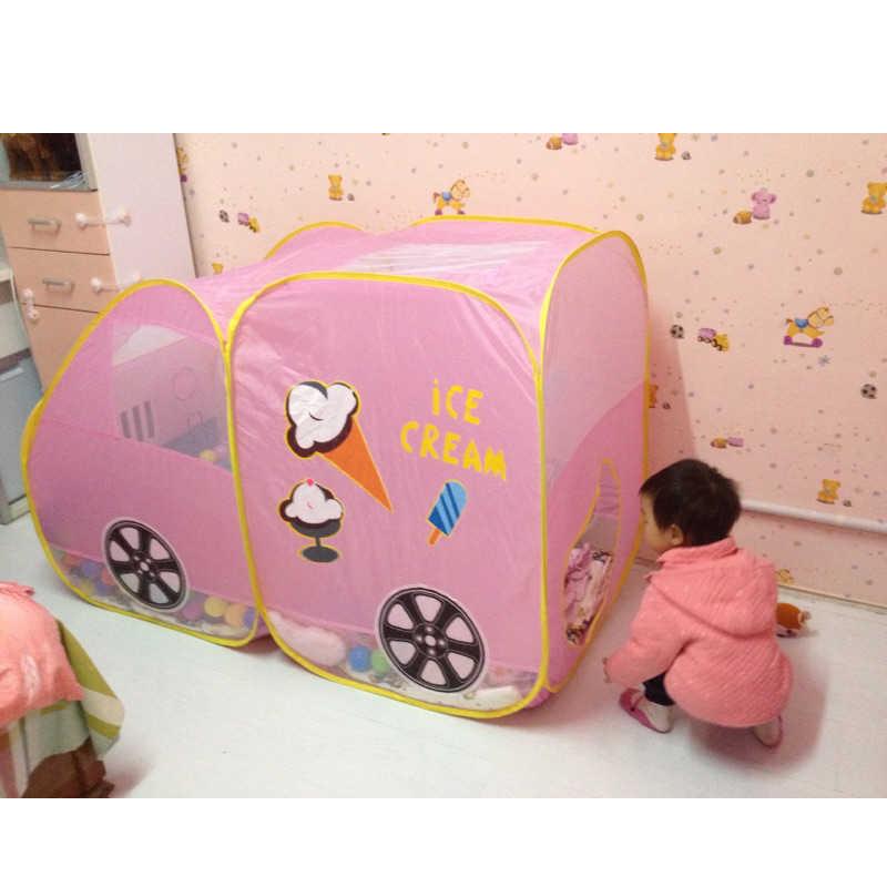 Yeni Çocuk Oyunu Oyun Bahçesinde Çocuk Güvenli Taşınabilir Oyun Parkı oyuncak çadır Büyük Araba Tasarım Evi Kulübe Top Havuzu Topu Açık Kapalı