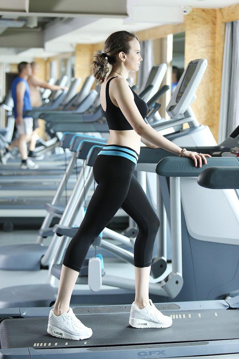 2018 New Arrival Design V Waist 4 colours Women Yoga Pant Sport Leggings Fitness Running Capri Pants Trousers Free Shipping