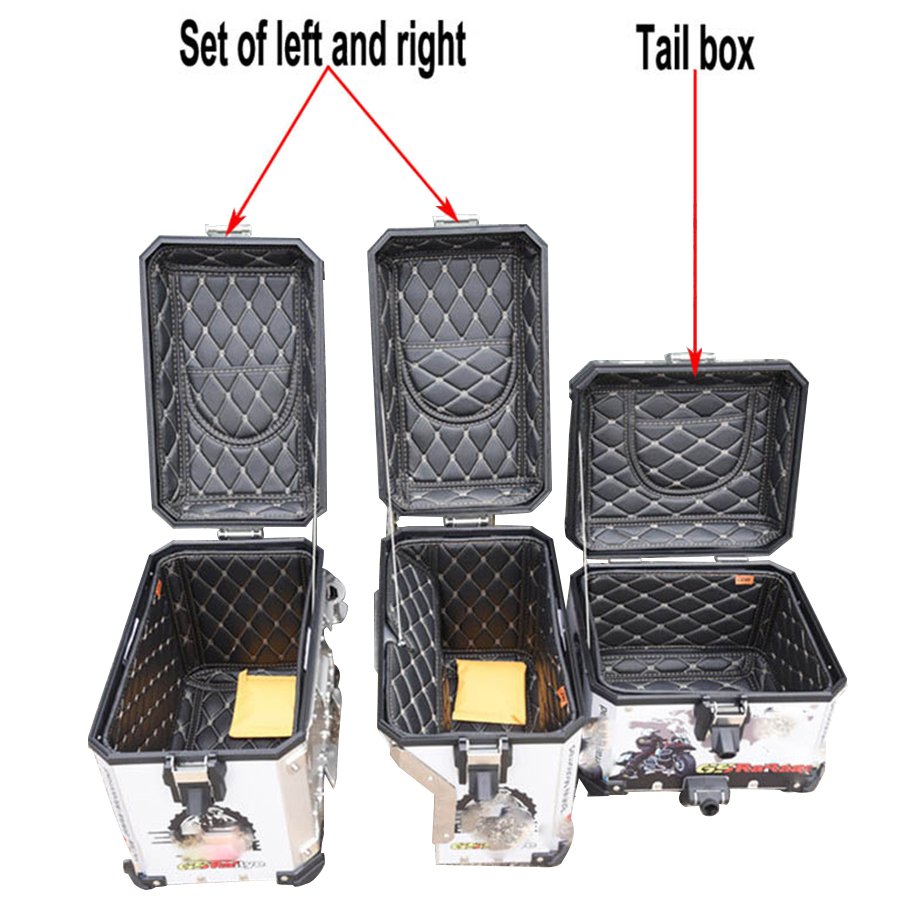 3pcs Rear Luggage Box Inner Bag Top cover Container Tail Case Trunk Side Saddlebag for BMW R1200GS LC/ADV 13-17