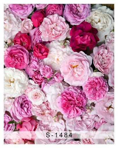 Customize washable wrinkle free peony pink flowers photography backdrops for newborn photo studio portrait backgrounds S-1484 customize washable wrinkle free baby clock pink wall photography backdrops for newborn photo studio portrait backgrounds s 956