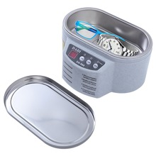 Mini líquido de limpeza ultrassônico jóias óculos placa circuito máquina de limpeza controle inteligente ultra sônico banho
