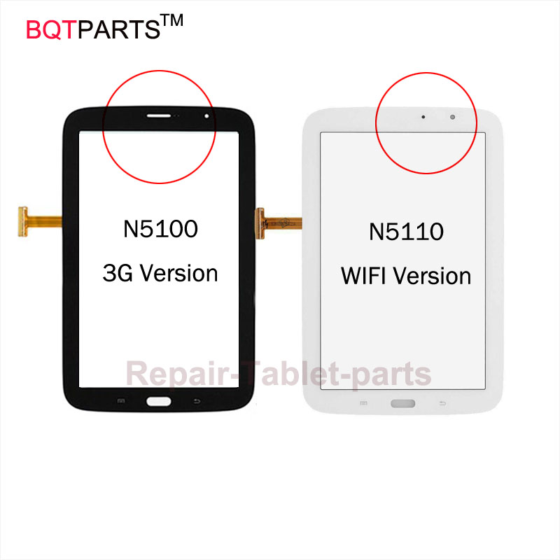 BQT A+++ Original 8 For Samsung Galaxy Note 8.0 N5100 N5110 Touch Screen Digitizer Panel Sensor Front Glass Lens Black White