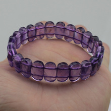 natural amethyst stone beads bracelet gemstone bangle jewelry for woman birthstone of Sagittarius , Aquarius !