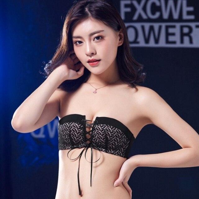 e59e5537d84f5 Sexy Lingerie Brassiere Bra Top Women Push Up Seamless Invisible Lace Bras  Female Pull B Underwear Women Wireless Strapless Bra