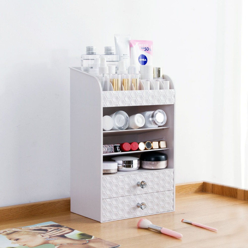 OTHERHOUSE Makeup Organizer Cosmetic Storage Box Skin Care Product Rack Desktop Brush Holder Jewelry Organizer Case