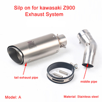 Motorcycle Middle Connecting Pipe With 51mm Tail   Exhaust   Silencer   System   Silp on for kawasaki Z900 2017-2018