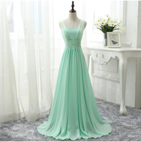 Robe Demoiselle D Honneur2016 New Tulle And Chiffon Sexy A Line Floor Length Royal Blue Champagne