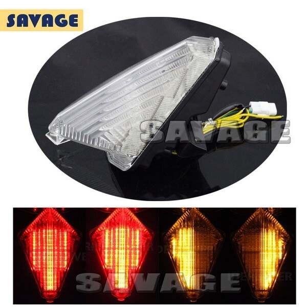Accesorios de la motocicleta led integrado luz trasera de señal de vuelta blinke