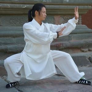 Image 3 - wudang Taoist kungfu uniform tai chi robe shaolin Buddhist monk robes kungfu linen set wushu martial arts suit clothing