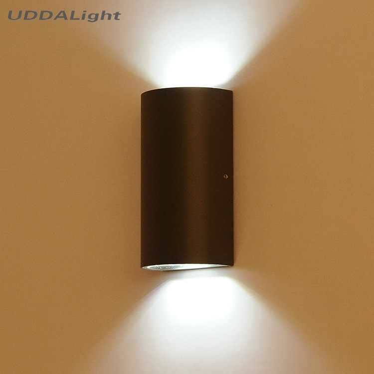 square round semicircle exterior lights 6w outdoor wall light cob led black