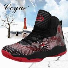 Ceyue баскетбольные кеды для мужчин Высокое качество спортивная обувь из выделанной кожи кружево до ботильоны противоударный корзина homme baloncesto