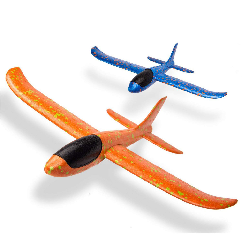 34Cm Foam Plane Throwing Glider Toy Airplane Inertial Foam EPP Flying Model gliders Outdoor Fun Sports Planes toy for children