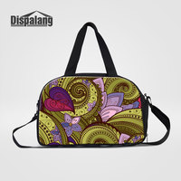 Dispalang Canvas Travel Duffle Bags For Women Abstract Flower Printing Hand Luggage Traveling Handbags Girl Weekender