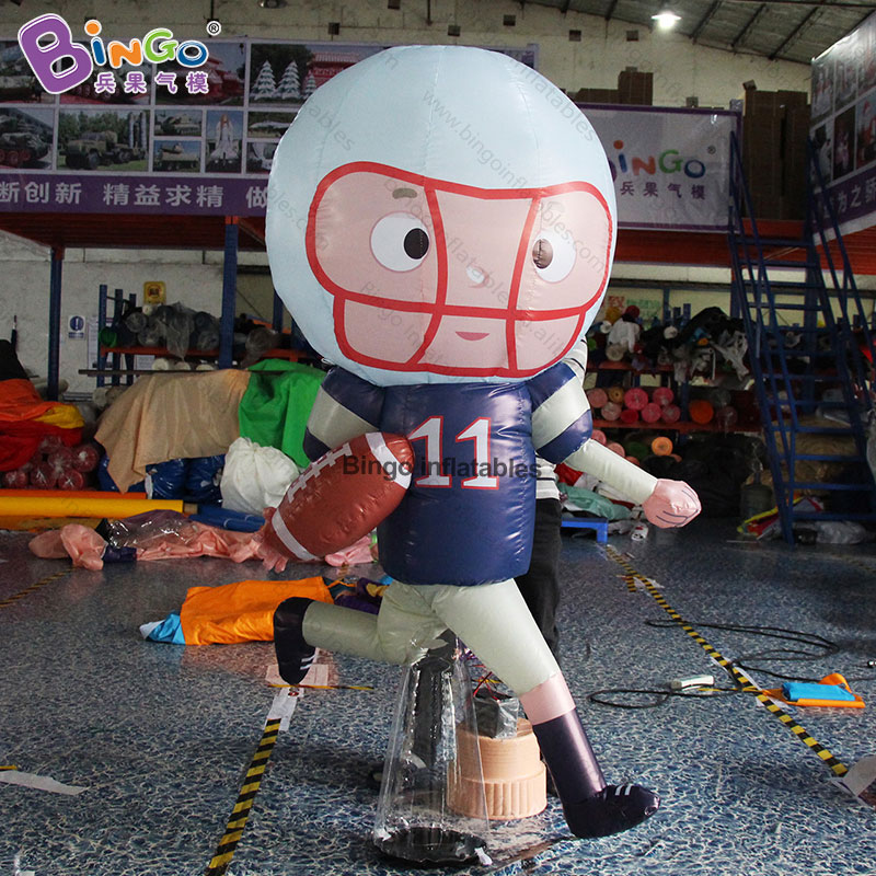 Custom made 2m height inflatable rugby player / big inflatable American football player for display toys