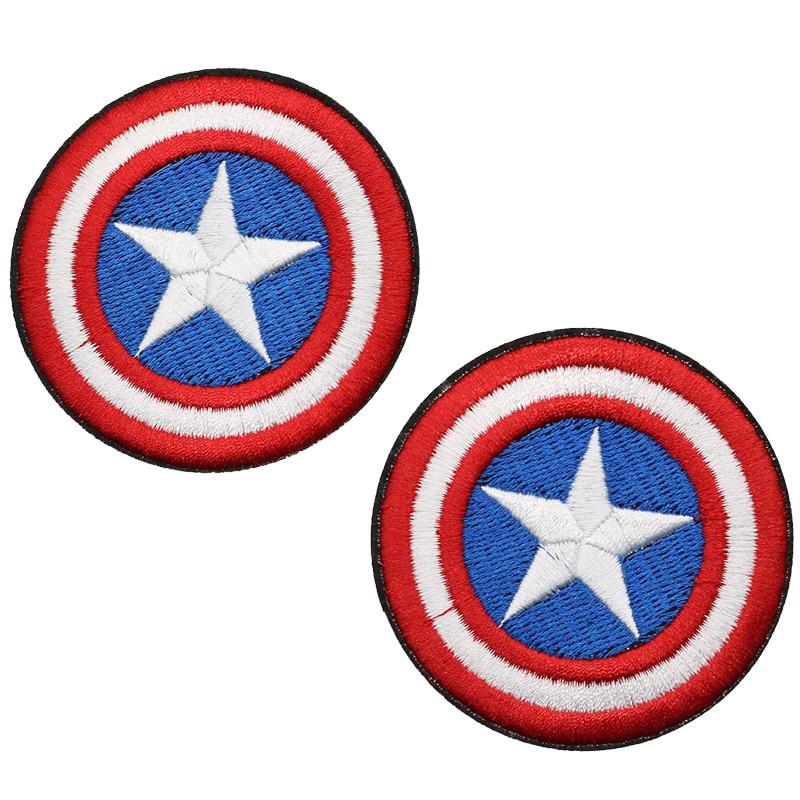 Movie Logo Captain Marvel Adhesive Fabric Jersey Jacket Patch Peel /& Stick NEW