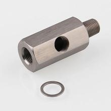 1/8 BSPT датчик давления масла тройник к NPT адаптер турбо подача линия Калибр серебро Универсальный