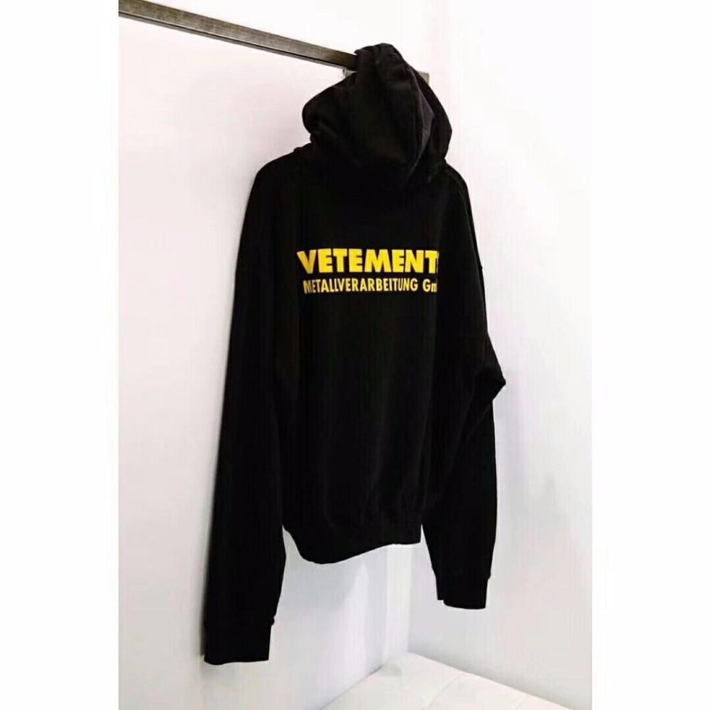 2018SS Vetements Hoodies Hommes Femmes Haute Qualité Metallverarbeitung Gmbh Mode Hip Hop pull Vetements Lettre Sweat-Shirts
