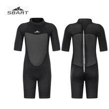 Sbart 2019 2mm Boys Girls Neoprene Short Wetsuit for Children 2-12Y Kids Full Black Diving Suit Thermal Swimsuit Jumpsuit