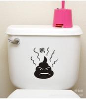 5pcs Korean Toilet Paste Decorative Bathroom Waterproof Stickers Bathroom Wall Stickers Home Decor Free Shipping