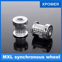 Free Shipping DIY Model Making Accessories Aluminum MXL Synchronous Wheel 16 Tooth Gear
