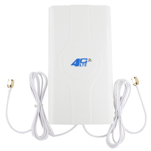 Image 2 - 88dBI 3G 4G LTE antenna MobIle antenna Booster mImo Panel Antenna 2*SMA male/TS9/CRC9 Connector wIth Cable 700~2600Mhz